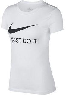 Bluzka damska Nike z aplikacjami  z okrągłym dekoltem