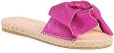 Manebi Espadryle Sandals With Bow O 1.3 J0 Różowy