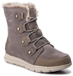 Śniegowce SOREL - Explorer Joan NL3039 Quarry/Black 052