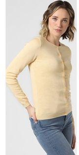 Sweter damski Marie Lund bez wzorów z dzianiny z okrągłym dekoltem
