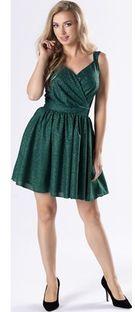 Sukienka Ptakmoda.com z dekoltem w serek wyszczuplająca na ramiączkach