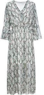 Sukienka Bonprix z długim rękawem szara