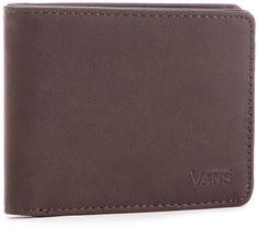 Duży Portfel Męski VANS - Drop V Bifold W WN0A31J8DRB Dark Brown 454
