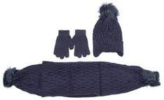 Mayoral Zestaw czapka, szalik i rękawiczki 10701 Granatowy