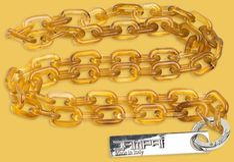 Łańcuch akrylowy - bursztynowy