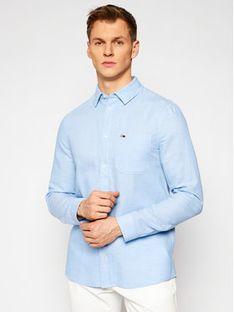 Tommy Jeans Koszula Tjm Blend DM0DM10144 Niebieski Regular Fit