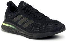 Buty adidas - Supernova M FW8821   Core Black/Core Black/Signal Green