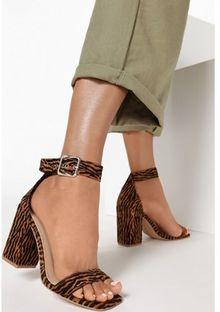 Sandały damskie Born2be z klamrą na lato