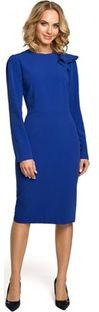 Moe sukienka elegancka na spotkanie biznesowe ołówkowa bez wzorów z wiskozy