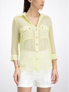 Marciano Guess Koszula 92G458 7383Z Żółty Regular Fit