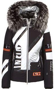 Wielokolorowa kurtka męska Sportalm sportowa z napisem na zimę