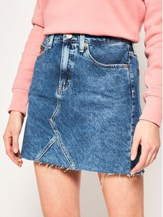 Tommy Jeans Spódnica jeansowa DW0DW08292 Granatowy Regular Fit