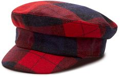 Czapka TOMMY HILFIGER - Th Wool Baker Boy Check AW0AW08874 BLU