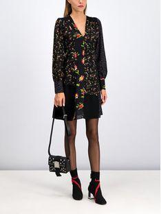 MCQ Alexander McQueen Sukienka letnia 572091 RNJ06 1000 Czarny Regular Fit