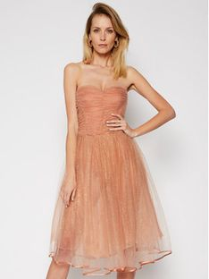 Elisabetta Franchi Sukienka koktajlowa AB-067-07E2-V469 Różowy Slim Fit