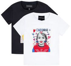 Emporio Armani Komplet 2 t-shirtów 3H3D02 3J2IZ 0922 Kolorowy Regular Fit