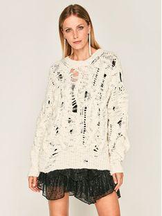 Iro Sweter Lorida AN262 Biały Regular Fit