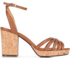Sandały damskie Wittchen na obcasie na wysokim brązowe eleganckie