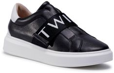 Sneakersy TWINSET - 202TCP092  Nero/Antique White