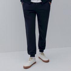Reserved - Melanżowe spodnie dresowe - Granatowy