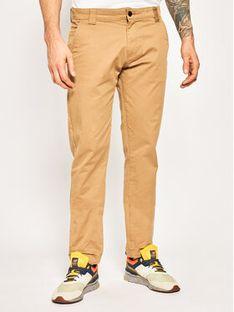 Tommy Jeans Spodnie materiałowe DM0DM06518 Beżowy Slim Fit