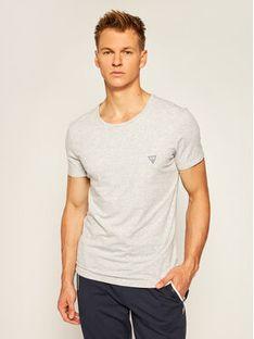 Guess T-Shirt U97M00 JR003 Szary Regular Fit