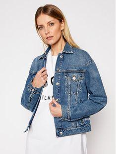 MSGM Kurtka jeansowa 3041MDH41LX 217283 Niebieski Regular Fit