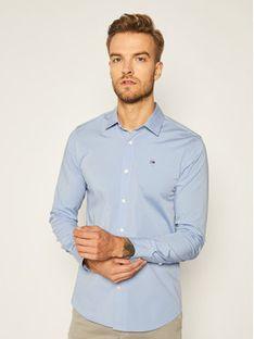 Tommy Jeans Koszula DM0DM04405 Niebieski Slim Fit