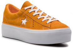 Converse Tenisówki One Star Platform Ox 563487C Pomarańczowy