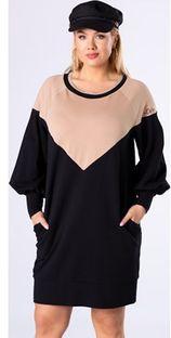 Sukienka Ptakmoda.com dresowa mini z długim rękawem