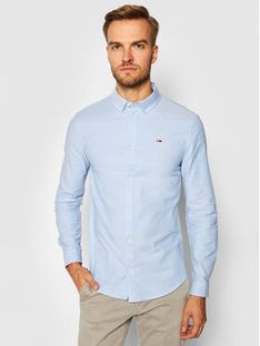 Tommy Jeans Koszula Stretch Oxford DM0DM09594 Niebieski Slim Fit