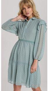 Miętowa sukienka Renee