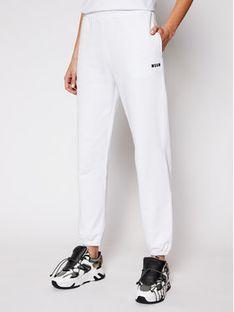 MSGM Spodnie dresowe 3041MDP64 217299 Biały Regular Fit