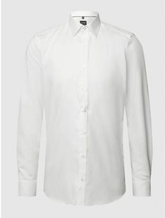 Koszula męska Olymp Level Five z długimi rękawami biała gładka