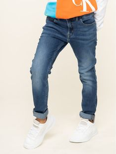 Calvin Klein Jeans Jeansy IG0IG00165 Granatowy Skinny Fit