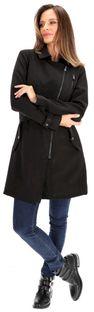 Płaszcz z asymetrycznym zapięciem ULA.700S20 Rino & Pelle