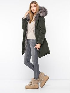 Hetregó Parka Sauris 8H623F 19WD17 Zielony Regular Fit