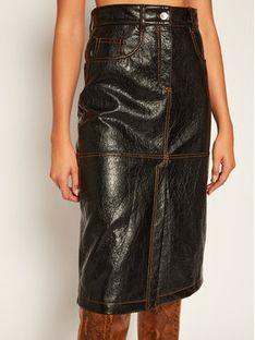 MSGM Spódnica jeansowa 2941MDD22 207670 Czarny Regular Fit