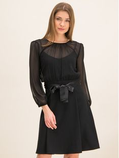 iBlues Sukienka koktajlowa 72261796 Czarny Regular Fit