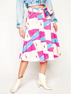 Marella Spódnica trapezowa Artist 21010102 Kolorowy Regular Fit