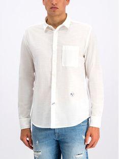 Pepe Jeans Koszula Cameron PM305801 Biały Regular Fit