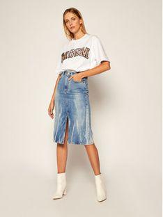 MSGM Spódnica jeansowa 2941MDD46L 207725 Niebieski Regular Fit