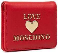 Mały Portfel Damski LOVE MOSCHINO - JC5625PP1CLF0500  Rosso