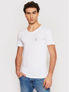 Guess T-Shirt U97M01 JR003 Biały Slim Fit