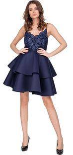 Sukienka Ptakmoda.com na sylwestra mini na ramiączkach