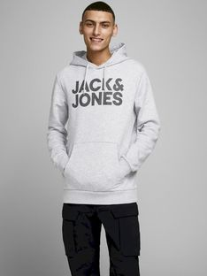"Jack & Jones ""Logo Sweat Hood"" Grey Melange"