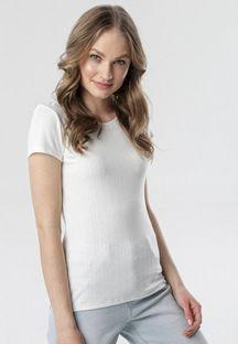 Biały T-shirt Chenelin