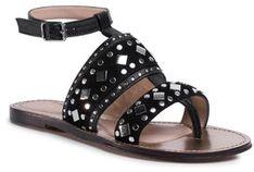 TwinSet Sandały Sandalo 201TCT04A Czarny