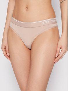 Calvin Klein Underwear Stringi 000QF5743E Beżowy