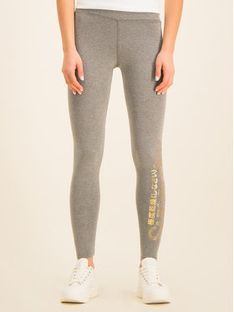 Superdry Legginsy Core W7000040A Szary Regular Fit